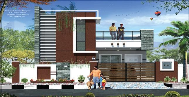 Stunning Sai Sri Enclave With Modern Compound Wall Designs Residential