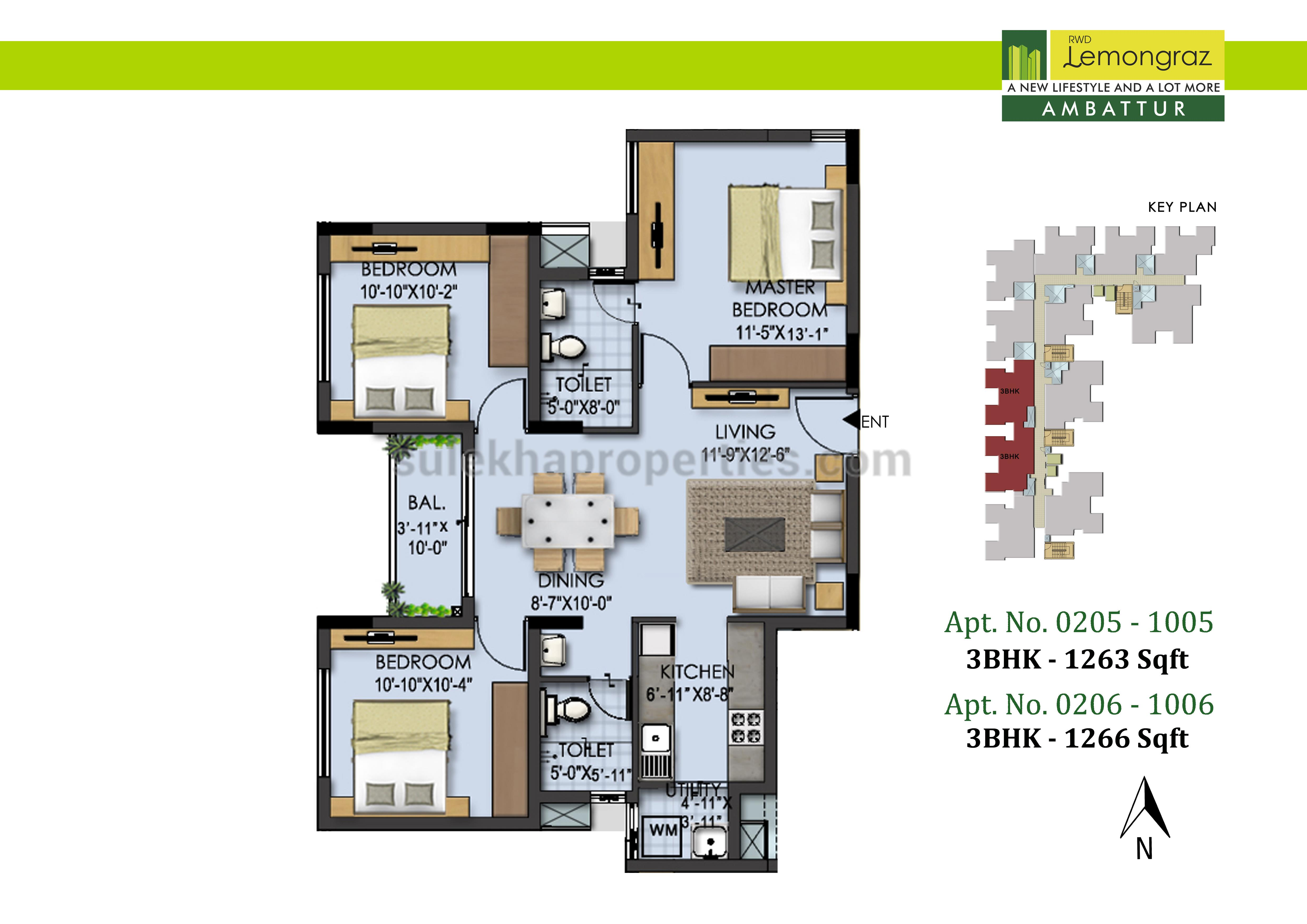 Rwd lemongraz in ambattur chennai by ramky wavoo for Floor plan source