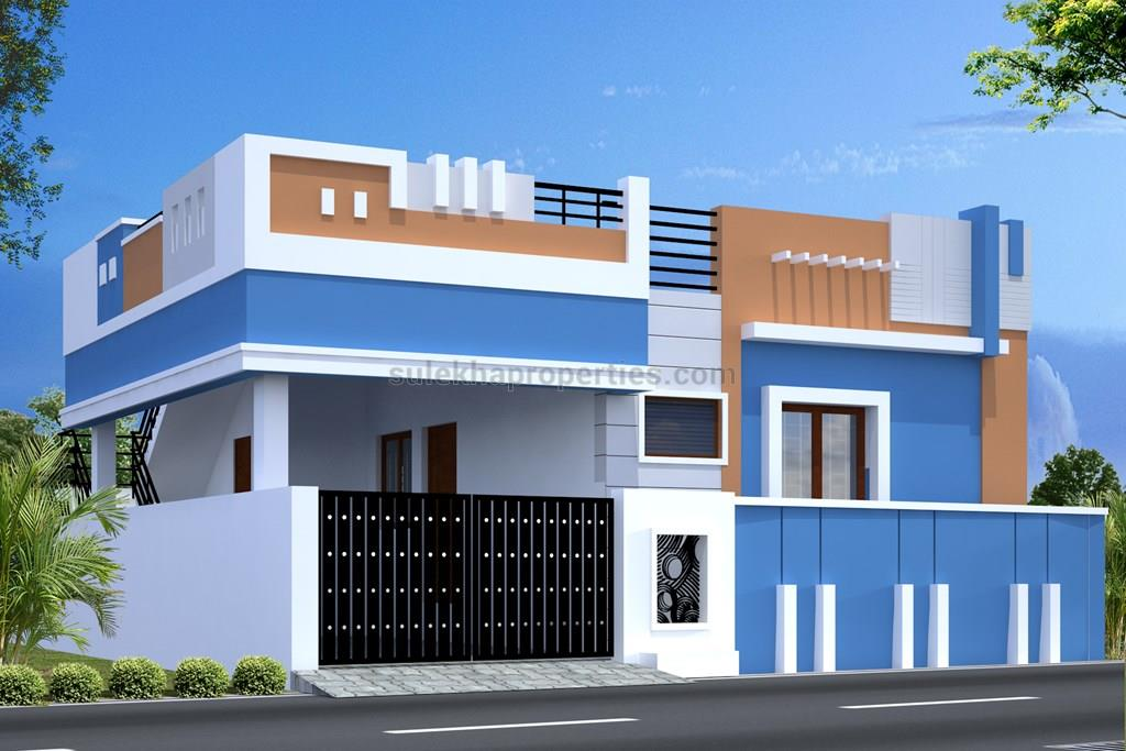 Front Elevation South Facing House : Bhk independent house for sale in anand gardens