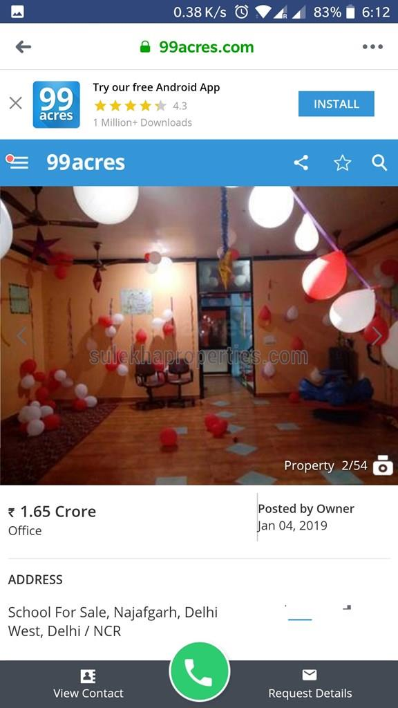 4+ BHK Independent House for Resale in Najafgarh, Delhi - 156 Sq yards -  ₹1 65 Crores - 6079719