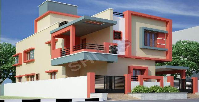 Front Elevation Designs For Small Houses In Chennai : Shivas cherry blossom row house i in gerugambakkam