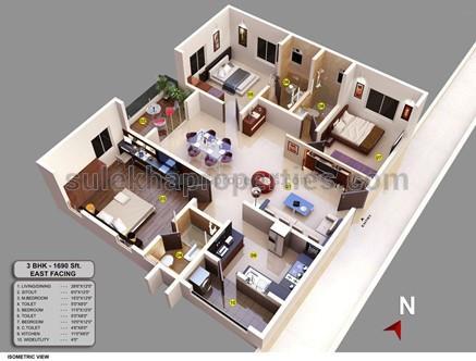 535ab1120e9 2 BHK Affordable Flat in Koramangala